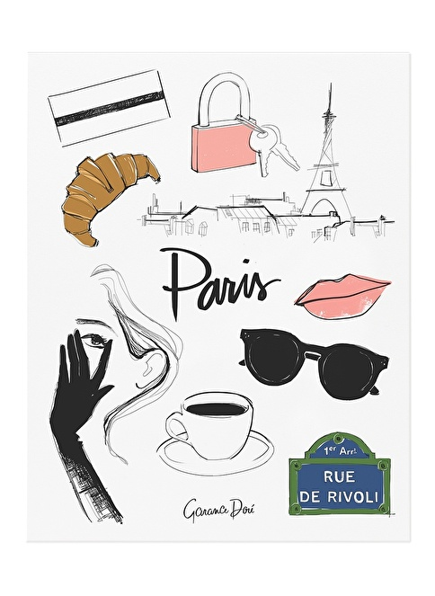 Rifle Paper Co. Paris Poster Renkli